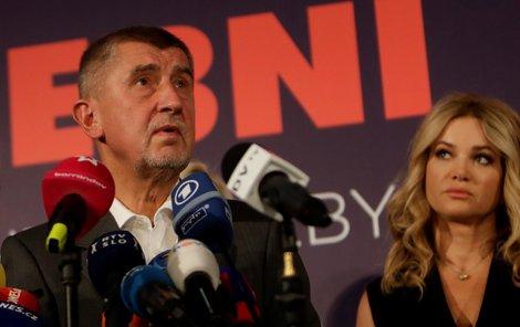 Volební štáb vítězného hnutí ANO