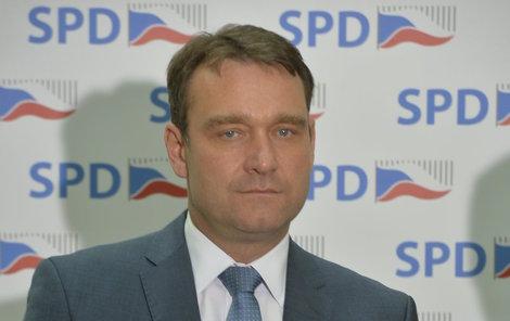 Druhý muž SPD Radim Fiala, Okamurova pravá ruka.