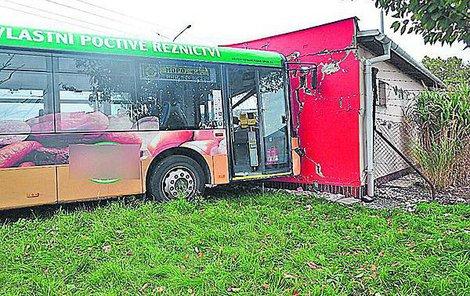Nehoda trolejbusu v Opavě.