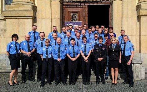 Tým městských policistů v Opavě.