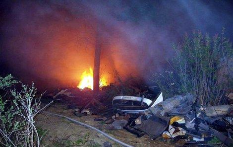 Takto hořel molitan při jiném požáru v Brně.