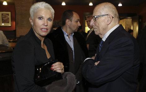 Eva Štědrá s manželem Karlem rádi vyráželi do společnosti.