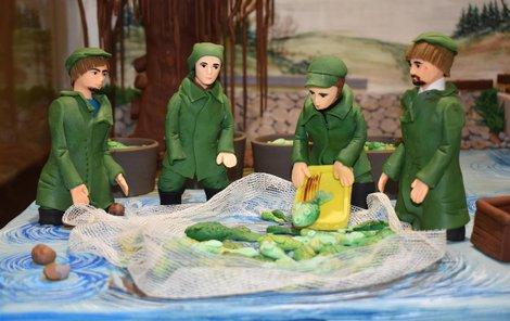 Rybáři u rybníka Svět