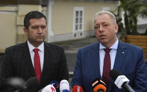 Milan Chovanec a Jan Hamáček