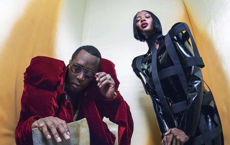 Topmodelka Naomi Cambell (47) a rapper P. Diddy (48).