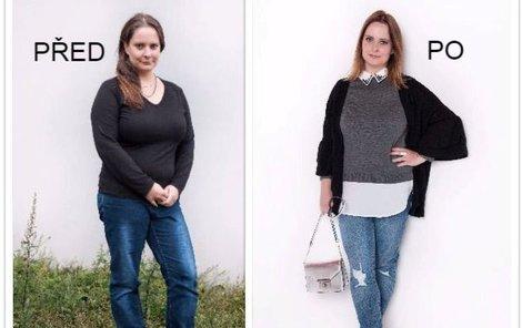 Katka před a po proměně