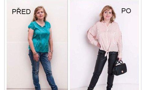 Jaroslava před a po proměně