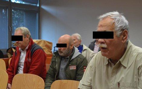 Tihle tři podle obžaloby ženu unesli – Pavel H. (zleva), Václav S. a Josef V.