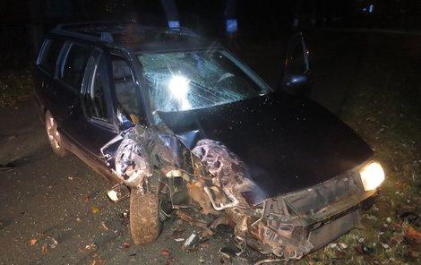 Takto dopadl vůz opilé šoférky