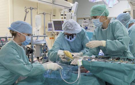 Operace trvá čtrnáctičlennému týmu osm hodin.