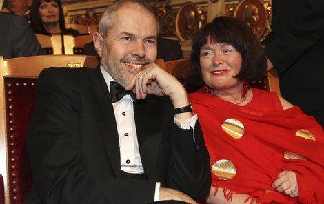 Marek Eben s manželkou