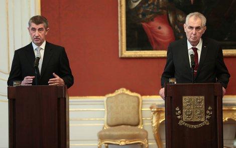 Miloš Zeman jmenoval Andreje Babiše premiérem