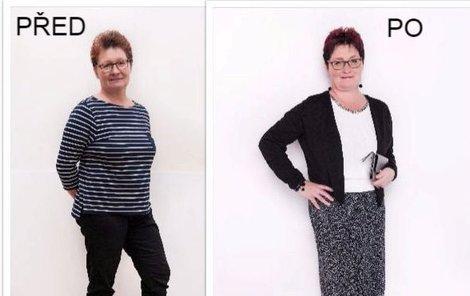 Paní Blanka před a po proměně