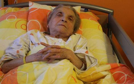 Milada Vyoralová nabírá síly v nemocnici.