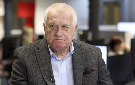 Václav Klaus ve studiu Blesku po 1. kole prezidentských voleb (15. ledna 2018)