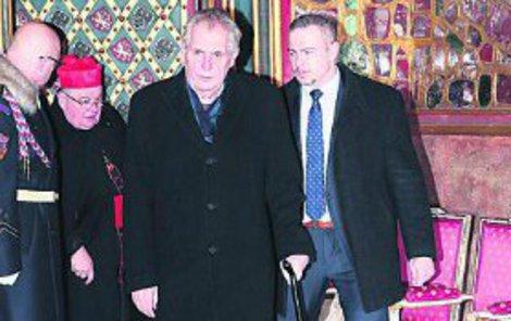 Prezident Miloš Zeman se svým bodyguardem.