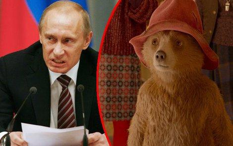 Vladimír Putin se zaměřil na neškodného medvídka Paddingtona.
