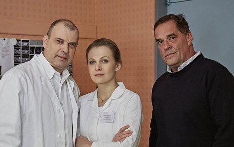 Petr Rychlý, Míša Badinková a Miroslav Etzler v Ordinaci v růžové zahradě 2