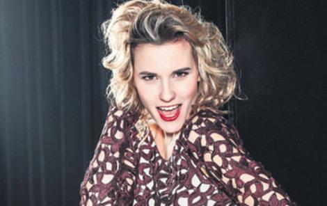 Šárka Vaculíková se předvede v taneční soutěži.