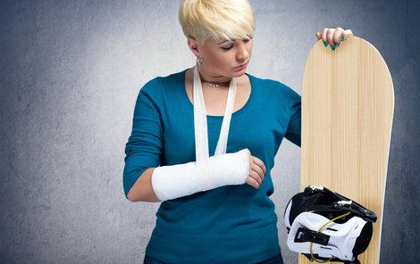 Snowboarding si ročně vyžádá skoro 2000 zraněných.