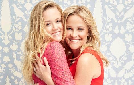 Reese Witherspoon a její dcera.