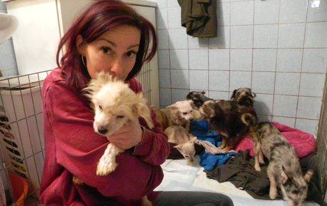 Eliška Vafková z psího hospice Dejte nám šanci.