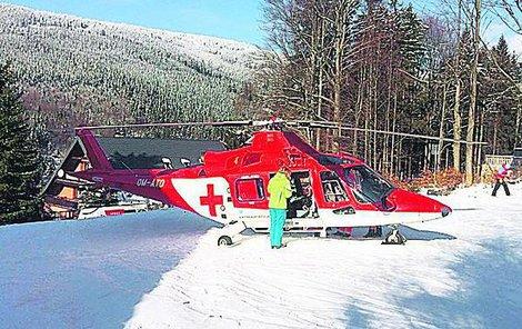Vrtulník záchranné služby z Hradce Králové