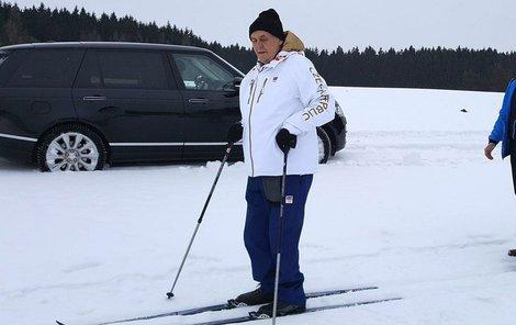 Na svých oblíbených běžkách byl prezident Miloš Zeman (73) spatřen ještě loni v únoru.