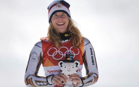 Ester Ledecká. Dvojnásobná olympijská vítězka.