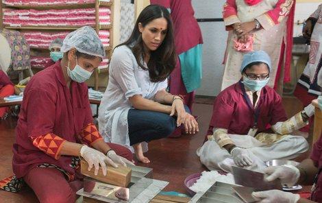 Meghan Markle byla s World Vision na misi v Indii.