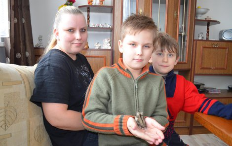 Šťastná Zuzka se syny v novém bytě. Kluci se pochlubili i neposedným kamarádem křečíkem džungarským.