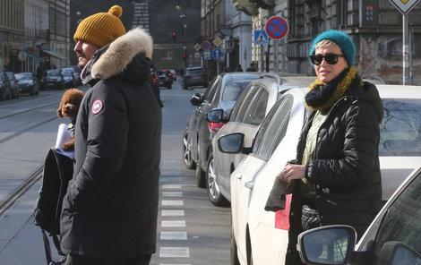 Kate Perry s Orlando Bloomem v Praze.