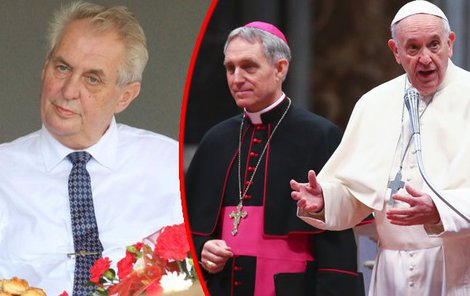 Za prodloužení biskupského mandátu kardinálu Dominiku Dukovi (74) oroduje u papeže Františka (81) prezident Miloš Zeman (73).