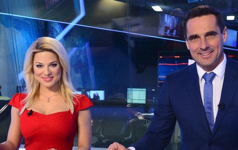 Nová moderátorská dvojice Eva Perkausová a Roman Šebrle se včera poprvé představila divákům.