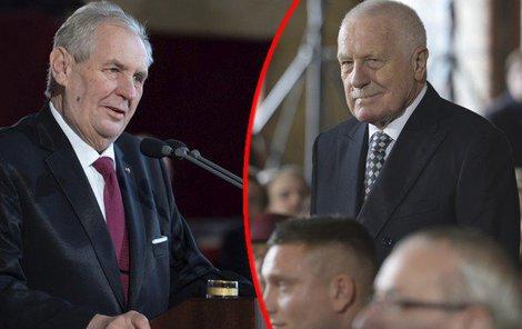 Miloš Zeman, Václav Klaus