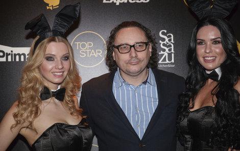 Marian Vojtko se sexy zajíčky z Playboye
