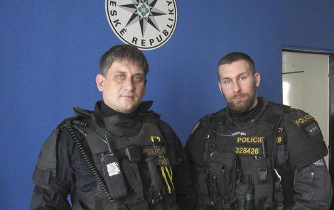 Milan Fajkus a Petr Okáč z přerovské policie.