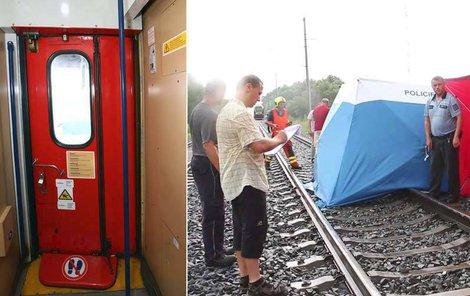 Holčička vypadla ze dveří vlaku, na místě zemřela.