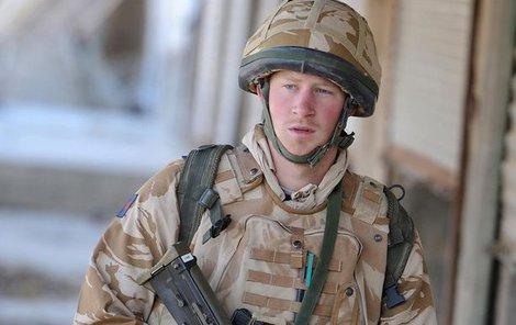 Princ Harry během služby v Afghánistánu.
