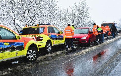 Velmi často míří záchranka k dopravním nehodám.