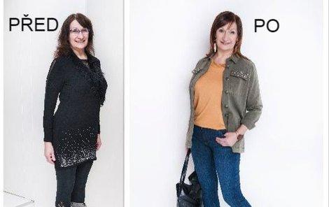 Dagmar před a po proměně