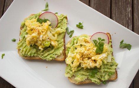 Vaječná pomazánka s avokádem