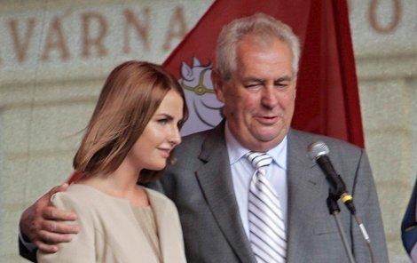 Kateřina Zemanová a Miloš Zeman