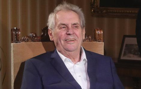 Prezident Miloš Zeman podal trestní oznámení.