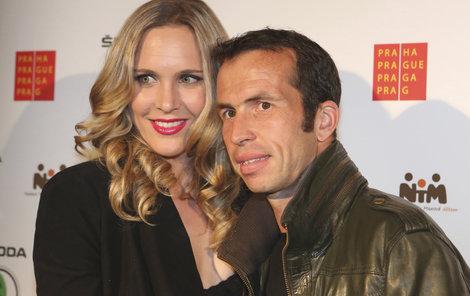 Nicole Vaidišová s Radkem Štěpánkem.