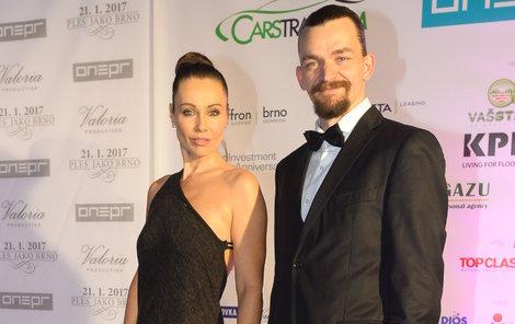 Se svým manželem Dušanem Vitázkem.