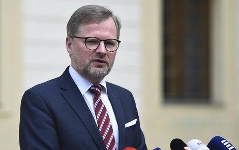 Předseda ODS Petr Fiala na Pražském hradě po schůzce s prezidentem Milošem Zemanem