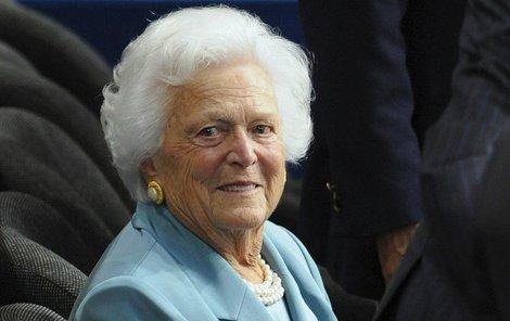 Ve věku 92 let zemřela bývalá první dáma USA Barbara Bushová