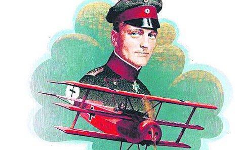 Manfred von Richthofen zvaný Rudý baron.