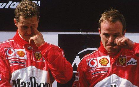 Michael Schumacher a Rubens Barichello